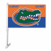 Florida Gators Car Flag W/Wall Brackett