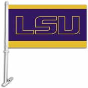 LSU Tigers Car Flag W/Wall Brackett