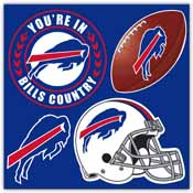 Buffalo Bills 4 Piece Magnet Set