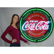 Coca-Cola Evergreen 36 Inch Neon Sign In Metal Can