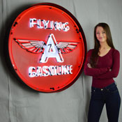 Flying A Gasoline 36 Inch Neon Sign In Metal Can