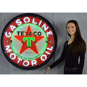 Texaco Motor Oil 36 Inch Neon Sign In Metal Can