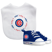 Bib & Prewalker Gift Set - Chicago Cubs