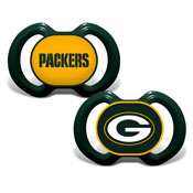 Gen. 3000 Pacifier 2-Pack - Green Bay Packers
