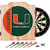 University of Miami Wood Dart Cabinet Set - Text