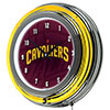 NBA Chrome Double Rung Neon Clock - Fade - Cleveland Cavaliers