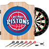 Detroit Pistons NBA Wood Dart Cabinet Set