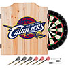 NBA Dart Cabinet Set with Darts and Board - Fade - Cleveland Cavaliers