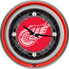 Vintage Detroit Redwings Neon Clock - 14 inch Diameter