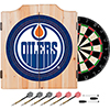 NHL Dart Cabinet Set with Darts and Board - Edmonton Oilers