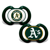 Gen. 3000 Pacifier 2-Pack - Oakland Athletics