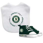 Bib & Prewalker Gift Set - Oakland Athletics
