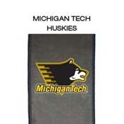 Michigan Tech Huskies with Overlap Logo