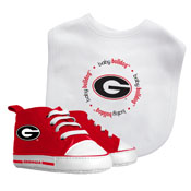 Bib & Prewalker Gift Set - Georgia, University Of