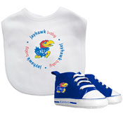 Bib & Prewalker Gift Set - Kansas, University Of