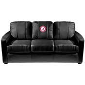 Alabama Crimson Tide Collegiate Silver Sofa