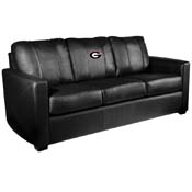 University of Georgia Bulldogs Silver Sofa
