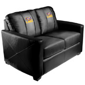 LSU Tigers Collegiate Silver Love Seat