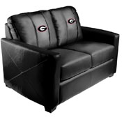 University of Georgia Bulldogs Silver Love Seat