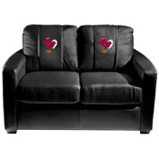 Virginia Tech Hokies Collegiate Silver Love Seat with Stand logo