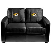 Missouri Tigers Collegiate Silver Love Seat