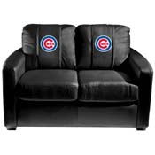 Chicago Cubs MLB Silver Love Seat