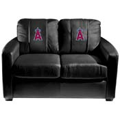 Los Angeles Angels of Anaheim MLB Silver Love Seat