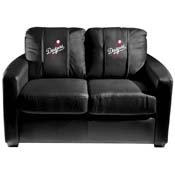 Los Angeles Dodgers MLB Silver Love Seat