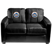 New York Mets MLB Silver Love Seat