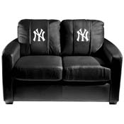 New York Yankees MLB Silver Love Seat