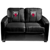 Chicago Bulls NBA Silver Love Seat