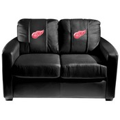 Detroit Red Wings NHL Silver Love Seat