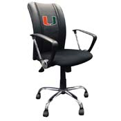 University of Miami Hurricanes Curve Task Chair