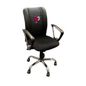 Virginia Tech Hokies Collegiate Curve Task Chair with Stand logo