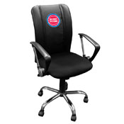 Detroit Pistons NBA Curve Task Chair