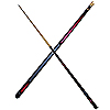 Pool Sticks Ruby Skull Cue Sticks