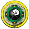 8-Ball 14-inch Neon Wall Clock