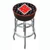 Four Aces Diamond Logo Padded Bar Stool
