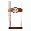Four Aces 2 piece Wood and Mirror Wall Cue Rack