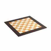 18inch Leatherette Chess Board - Brown/White