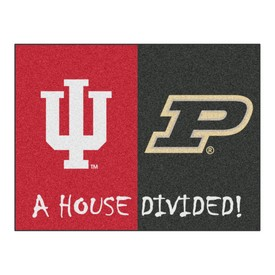 Indiana-Purdue House Divided Rugs 33.75x42.5