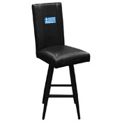 Greek Flag Bar Stool Swivel 2000
