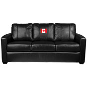 Canadian Flag Silver Sofa