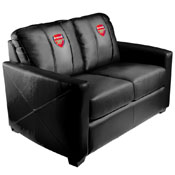 Arsenal FC EPL Silver Love Seat