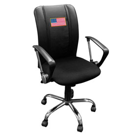 American Flag Curve Task Chair