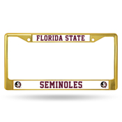 Florida State Gold Colored Chrome Frame