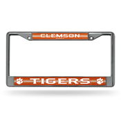 Clemson Bling Chrome Frame
