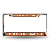 Clemson Orange Laser Chrome Frame