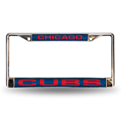 Cubs Blue Laser Chrome Frame