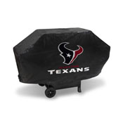 Texans Deluxe Grill Cover (Black)